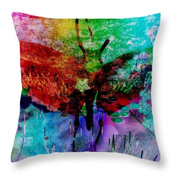 Insects And Incense Throw Pillow