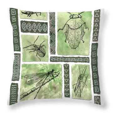 Insects Of Hawaii I Throw Pillow