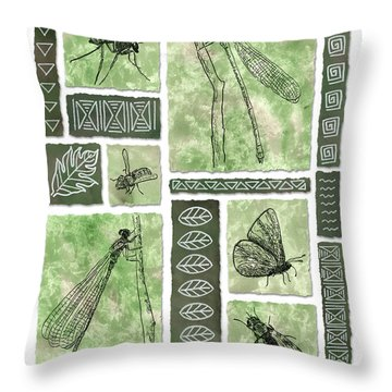 Insects Of Hawaii II Throw Pillow
