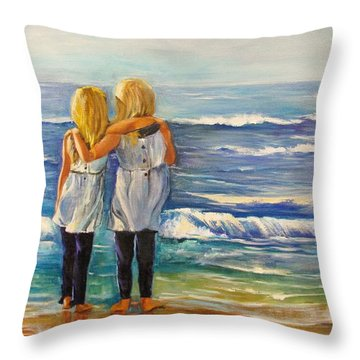 Inseparable Twins Throw Pillow