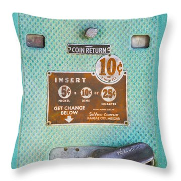 Throw Pillow featuring the photograph Insert Coin by Christina Lihani