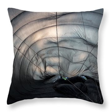 Inside A Hot Air Balloon Throw Pillow