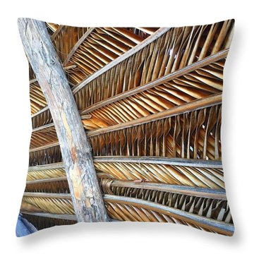 Palm Thatch Detail  Throw Pillow