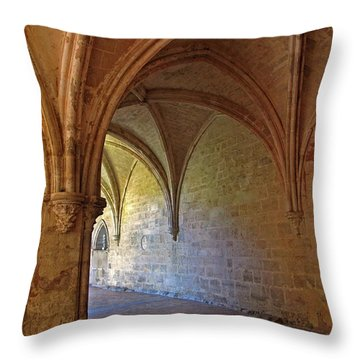 Inside A Monastery Dordogne France  Throw Pillow