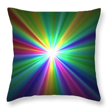 Inside A Rainbow Throw Pillow