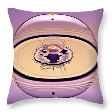 Inside A Saturn Bubble Throw Pillow by Susan Candelario