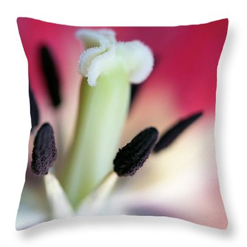 Inside A Tulip Throw Pillow