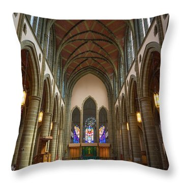 Inside Christchurch Cathedral Throw Pillow
