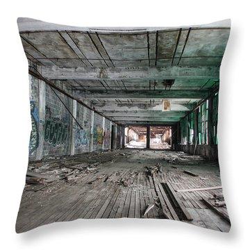 Inside Detroit Packard Plant  Throw Pillow