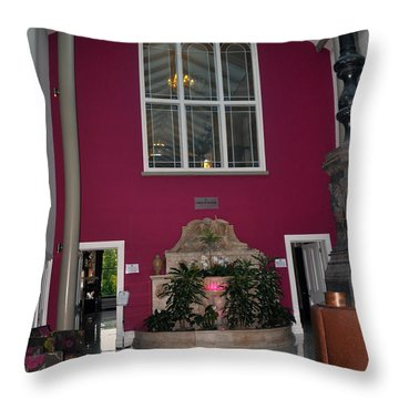 Inside Entry Lyrath Estate Hotel Throw Pillow by Cindy Murphy - NightVisions