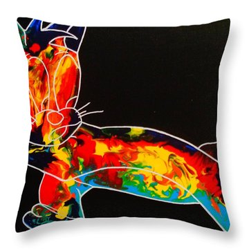 Inside Fire Throw Pillow