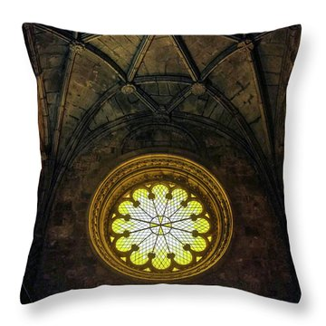Throw Pillow featuring the photograph Inside Jeronimos by Carlos Caetano