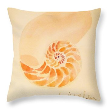 Inside Of A Nautilus Throw Pillow by Ann Michelle Swadener