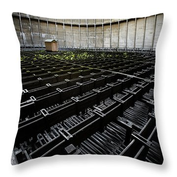 Throw Pillow featuring the photograph Inside Of Cooling Tower - Industrial Decay by Dirk Ercken