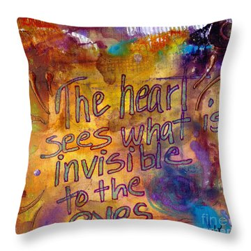Inside Out Throw Pillow by Angela L Walker