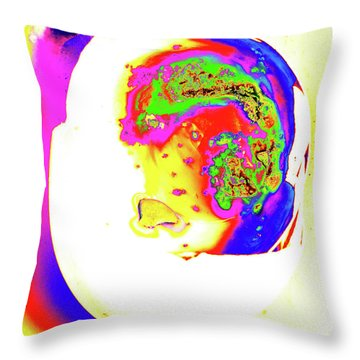 Throw Pillow featuring the photograph Inside Out Easter Egg by Onyonet  Photo Studios