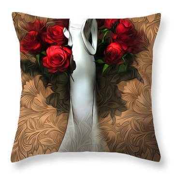 Inside Pattern Throw Pillow by Svetlana Sewell