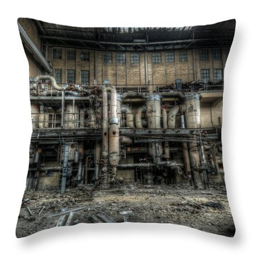 Inside Power Throw Pillow by Nathan Wright