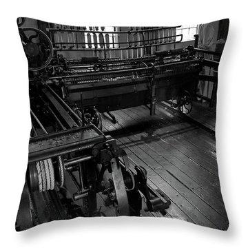 Inside Slater Mill Throw Pillow