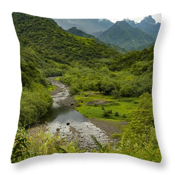 Inside The Crater Throw Pillow