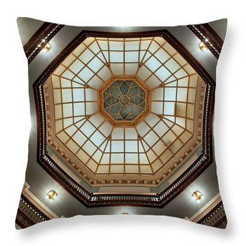 Inside The Dome Throw Pillow by Mark Dodd