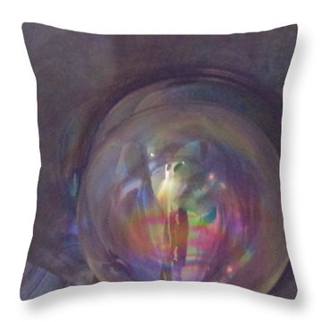 Inside The Fifth Dimension Throw Pillow