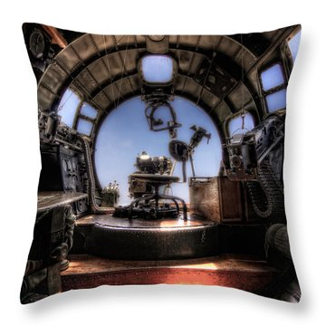 Inside The Flying Fortress Throw Pillow