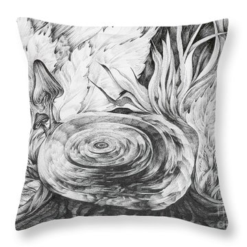 Inside The Forest Throw Pillow by Anna  Duyunova