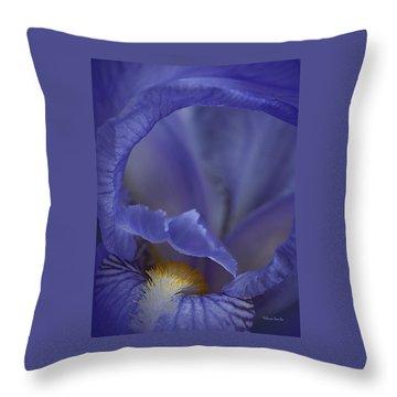 Inside The Iris Throw Pillow