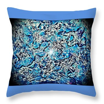 Inside The Large Hadron Collider -or- Paint Number Three Throw Pillow by Scott Haley