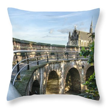 Inside The Leiden Citadel Throw Pillow