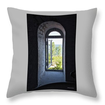 Inside The Lighthouse Throw Pillow