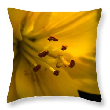 Inside The Lily Throw Pillow