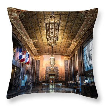 Inside The Louisiana State Capitol Throw Pillow