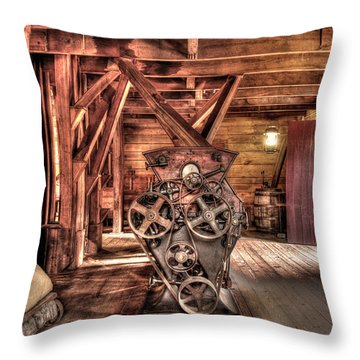 Inside The Mill Throw Pillow