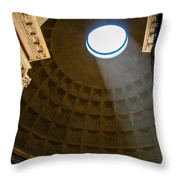 Inside The Pantheon Throw Pillow by Rainer Kersten