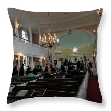 Inside The S. Georges Church Episcopal Anglican Throw Pillow