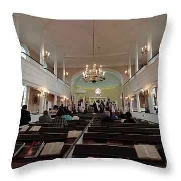 Inside The St. Georges Episcopal Anglican Church Throw Pillow