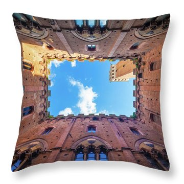 Inside The Tower Throw Pillow by Inge Johnsson