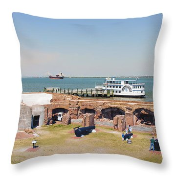 Inside View Of Fort Sumter Throw Pillow