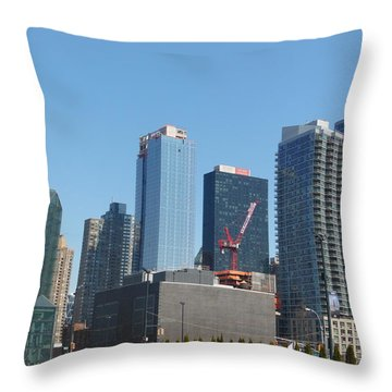 Insomnia City Throw Pillow