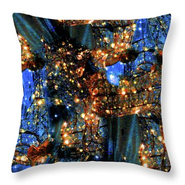 Throw Pillow featuring the digital art Inspiration #6102 by Barbara Tristan