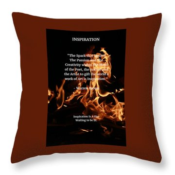 Inspiration And Creativity Throw Pillow by Warren Brown