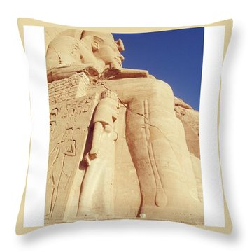 Egytian Monument Throw Pillow by Patsy Jawo