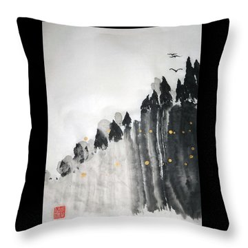 Inspiration Cliffs Throw Pillow