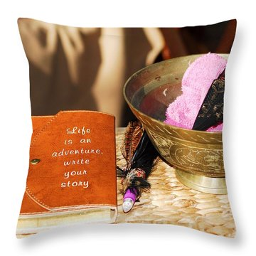 Inspiration For Living Throw Pillow