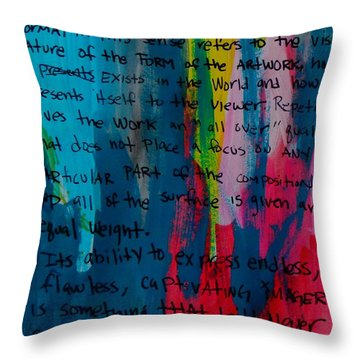 Inspiration From Warhol Throw Pillow