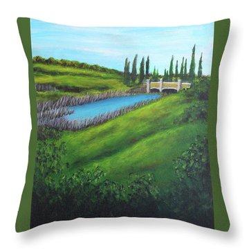 Inspiration In Mountain House Throw Pillow