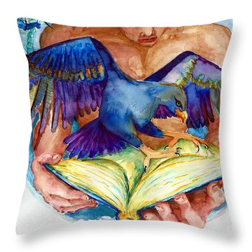 Inspiration Spreads Its Wings Throw Pillow by Melinda Dare Benfield