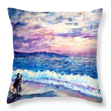 Inspiration-the Musician Throw Pillow by Shana Rowe Jackson